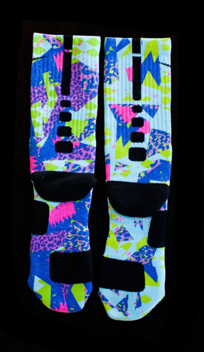 online store 2c135 44bdc Custom Nike Elite or Notion Socks for Jordan Bel-Air 5's Shoes BEL AIR