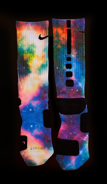 62d3ec91790 Custom Nike Elite Socks for Kobe 7 All Star Galaxy Shoes