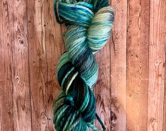 Hand Dyed Yarn, Superwash Merino Wool Yarn, Chunky Bulky Weight Yarn, OOAK Colorway