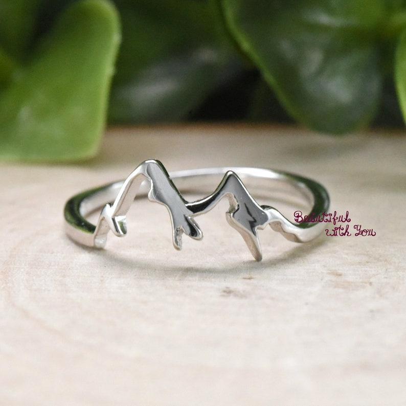08c2f84fd9b Trendy Fashion Ring Mountain Mountain Ring Sterling Silver
