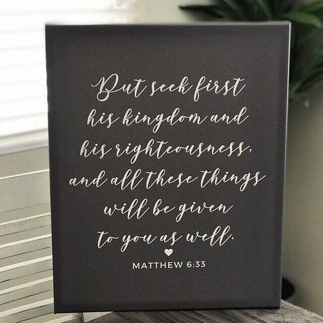 Matthew 6 33, Seek Ye First The Kingdom of God, Modern