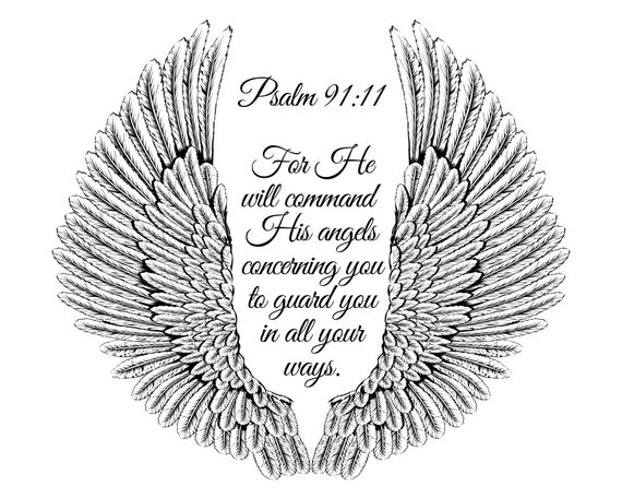 graphic relating to Printable Angel Wings titled Psalm 91 11, Angel Wings Printable, Psalm 91 Printable, Bible Verse Prints, Bible Verse Signal, Christian Printables, Printable Bible Artwork