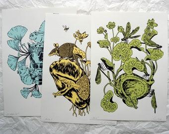 Innere Organe Set 4 - Internal organs 4 - original silkscreen graphics