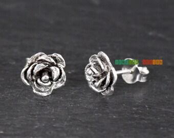 Rose Earrings Etsy