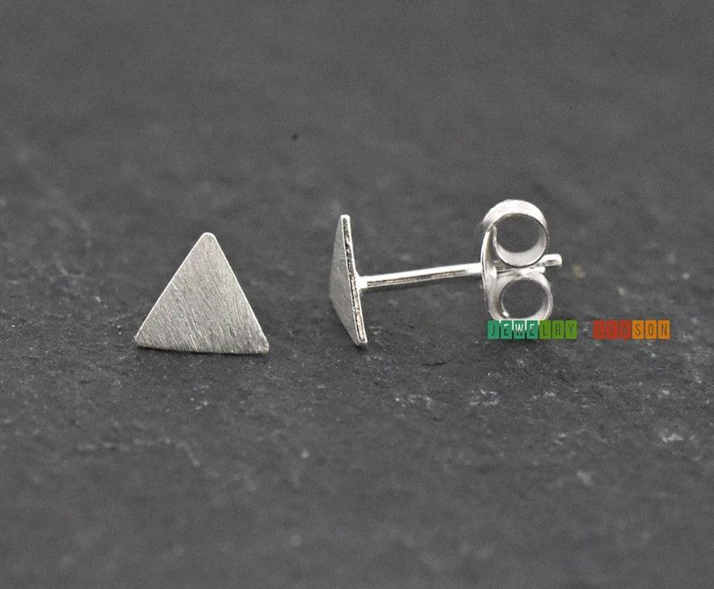 359cf2157 Triangle Studs Earrings Geometric Minimalist 6mm Small | Etsy