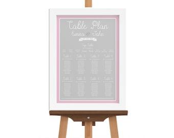 A1 table plan