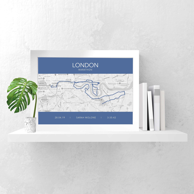 LONDON MARATHON PERSONALISED Print