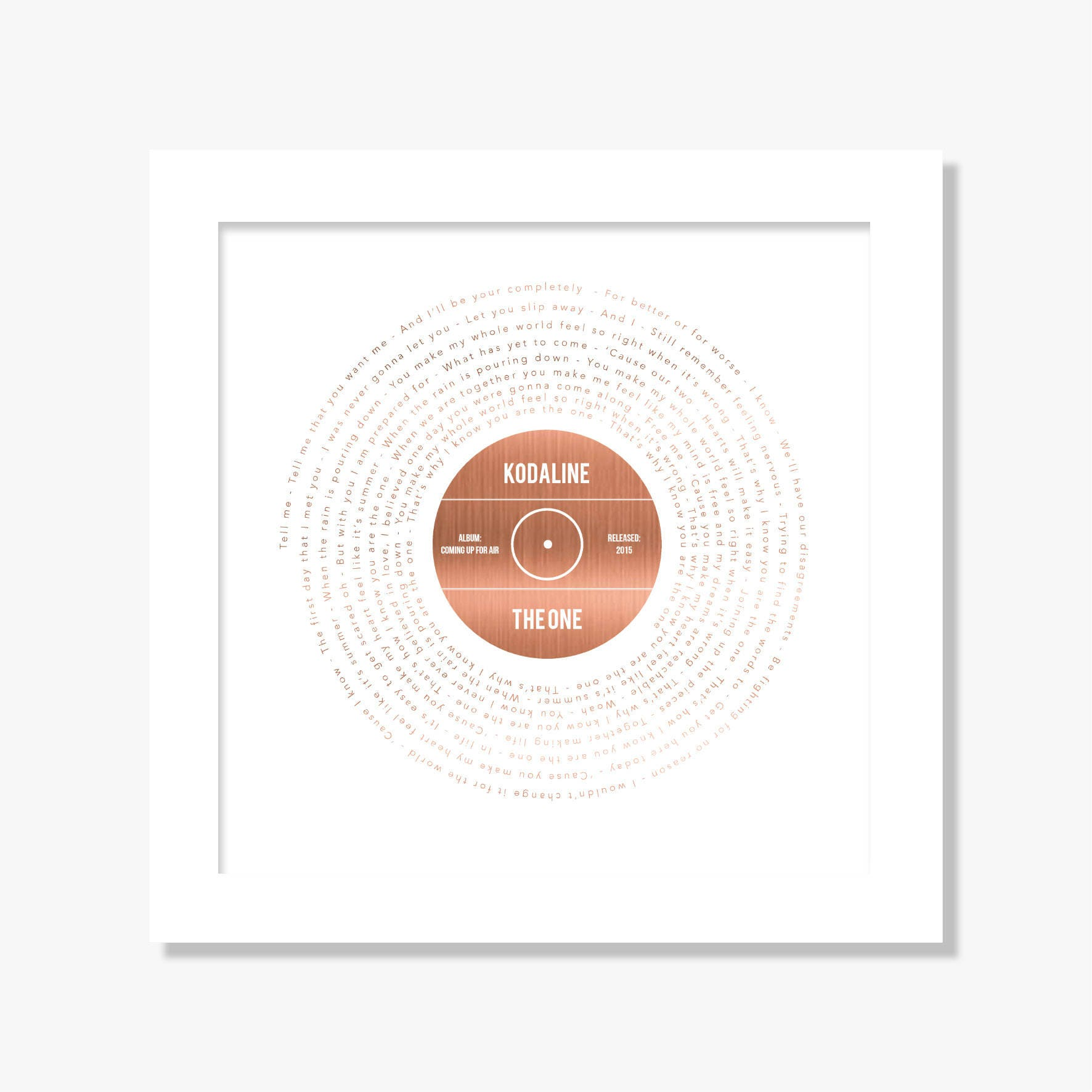 Personalisierte Folie gedruckt Lieblingslied songtexte Druck | Etsy