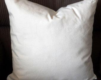 100% Organic Cotton Canvas Throw Pillow Case Cover 18 X 18