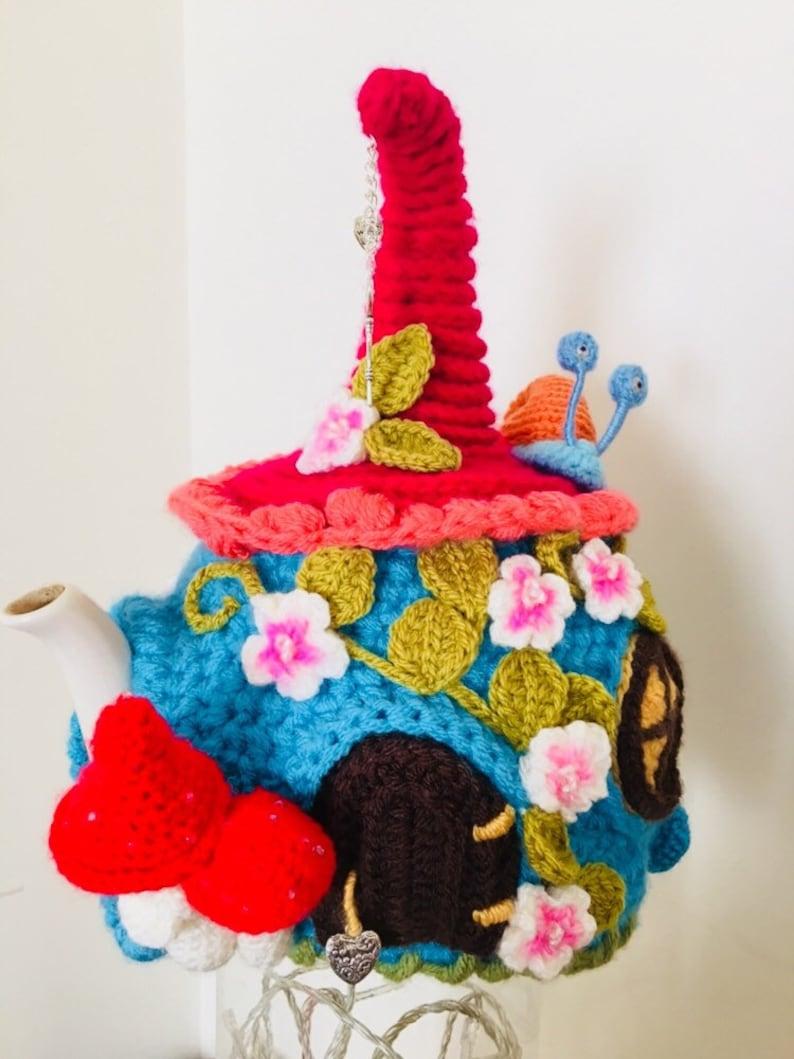 fairy houe Crochet tea cosy