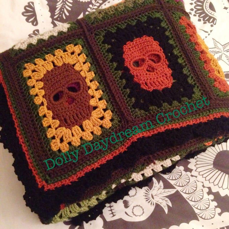 Crochet Skull Blanket Skull Afghan Skull Blanket Crochet
