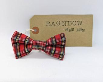 Cat Tartan Bow Tie | Tartan Cat Bow | Tartan Pet Bow Tie | Kitten Bow Tie | Red Cat Bow
