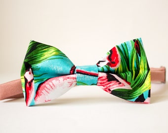 Flocking Flamingos Limited Edition Men's Bow Tie