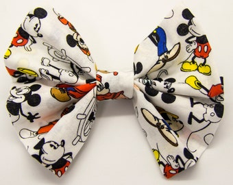 Mickey Hair Bow Made With 90th Anniversary Limited Edition Disney Fabric