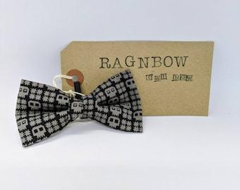 Cat Bow Tie Retro Skull Print | Cat Collar Bow