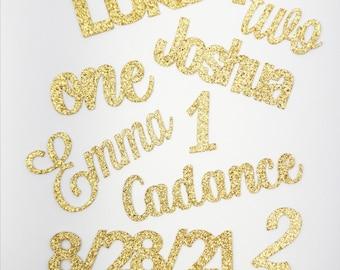 Custom Name Confetti   Personalized Glitter Confetti Birthday Bridal Baby Shower Graduation Wedding Table Scatter Party Decor