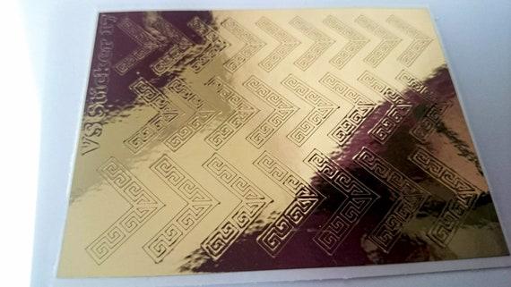 grandi affari migliore selezione del 2019 amazon Oro specchio cromato nastro adesivi per Nail Art