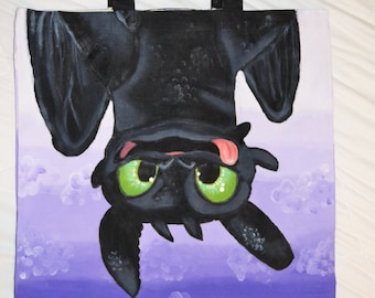 Toothless Tote Bag (How to train your dragon