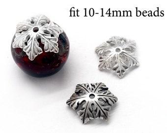 10x3mm JBB Findings 10pcs Sterling Silver Bead Caps fit 9-14mm beads 925 Sterling Silver Bead End Cap Spacer Beads Cap