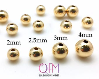 14K Gold Filled Round Corrugated Beads Gold Beads Gold Filled Beads and Findings