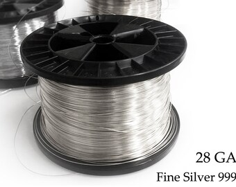 Dead Soft 22ga Gauge Round 5ft 10ft 25ft Solid 999 Pure Fine Silver Wire MADE IN USA