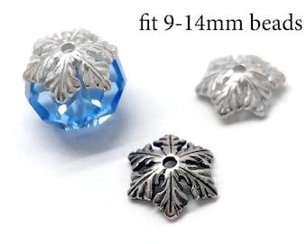 JBB Findings 10x3mm Bead End Cap Spacer Beads Cap 925 Sterling Silver 10pcs Sterling Silver Bead Caps fit 9-12mm beads