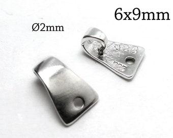 JBB Findings pendant link Connector 1pcs Sterling silver 925 Pendant Bail Fancy bail QFMarket Pendant connection Size 18x20mm