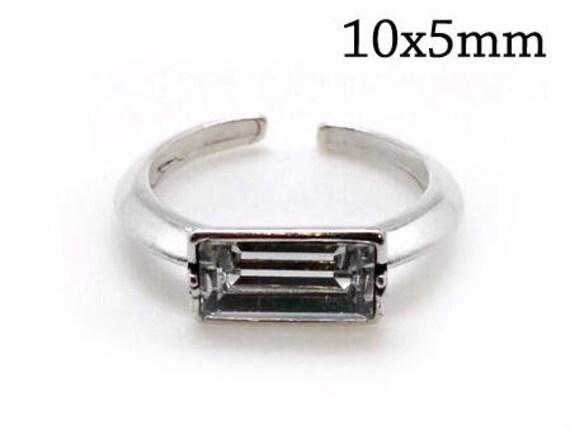 f10306907 1pc Sterling Silver Adjustable Ring 105mm Fits Swarovski | Etsy