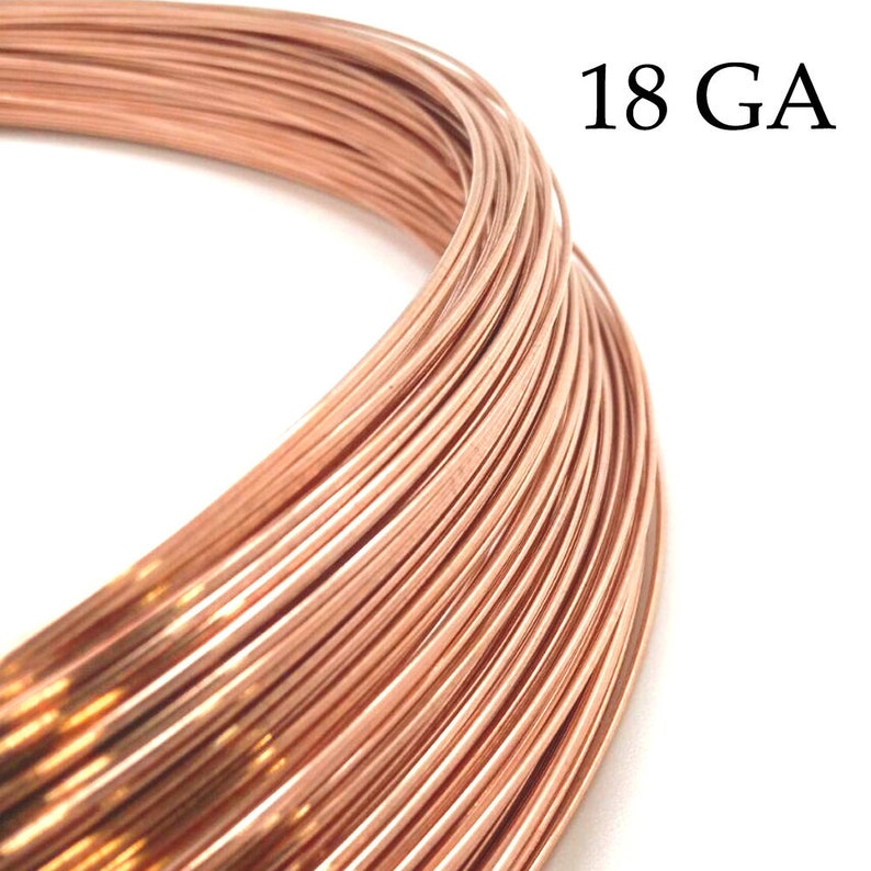 rose gold filled wire half hard 1mm - Rose gold filled wire 18 Gauge 3.28 feet - available in bulk 1 meter spools Thickness 18 GA