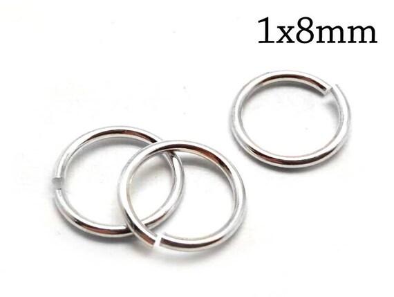 100pcs Sterling Silver Jump Rings 22 Gauge 0.6x2mm Open Jump Rings 2mm ID