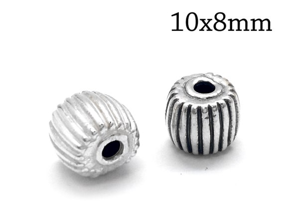 3mm Round One Hole Hollow Bead Sterling Silver 925 Jewellery Making Findings