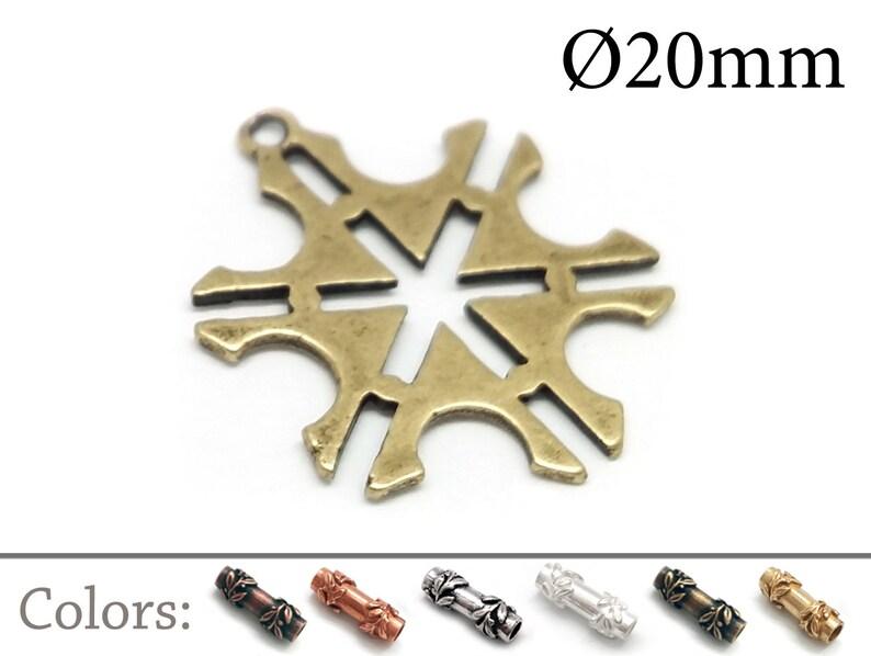 QFMarket Tiny Charm Gold plated AntiqueShiny Brass JBB Findings Copper Silver Small Star Pendant 5pcs Brass Geometric Pendant 20mm