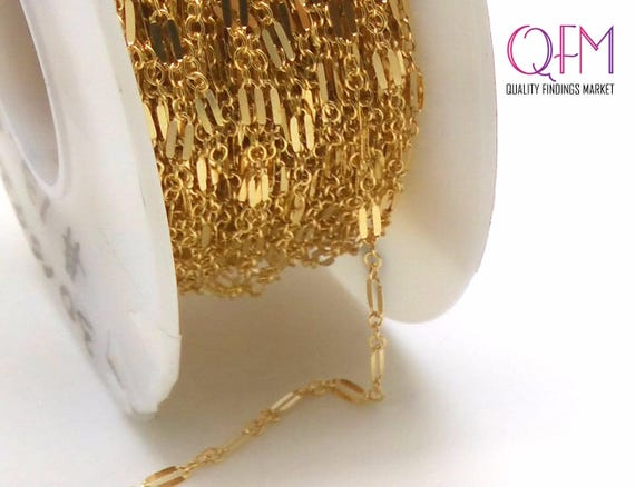 Gold Filled Cable Link Chain Unfinished 1.9mm 30.5 meters 100 Feet