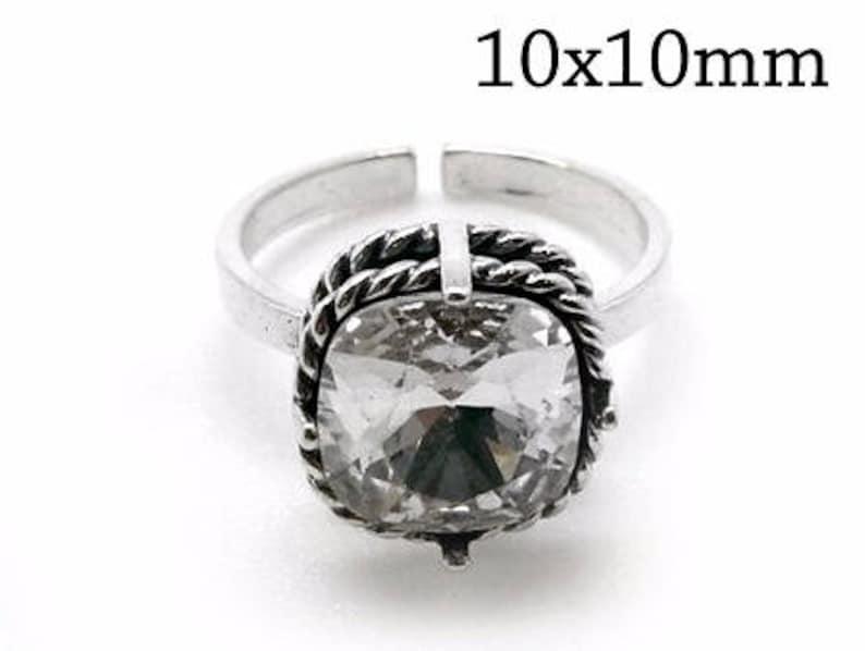 b6d3786cd 1pc Sterling Silver 925 Adjustable Ring Fits Swarovski 4470 | Etsy