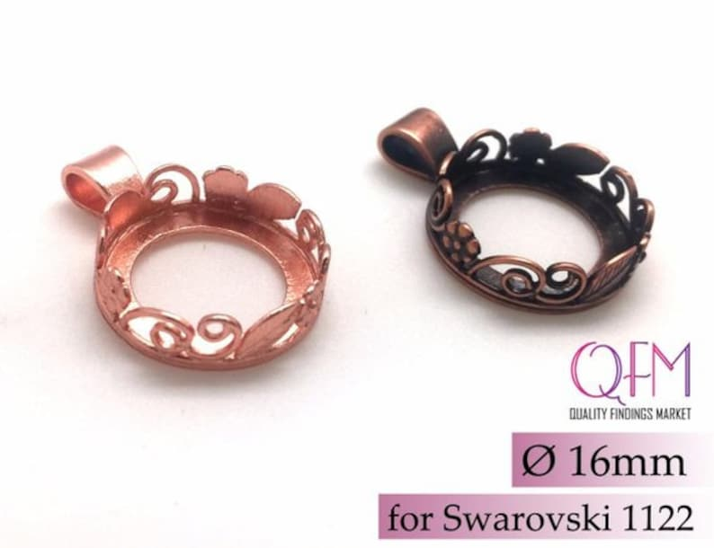 Bezel settings Brass Pendant Jewelry base Copper Silver plated JBB findings flowers and leaves 3pcs Brass Round Bezel Cup 16mm