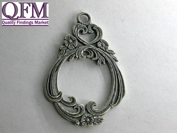 2setS/pk fermoir décoratif en laiton, taille: 25 x 27 26mm barre 26mm 27 de forme ovale d37cb2