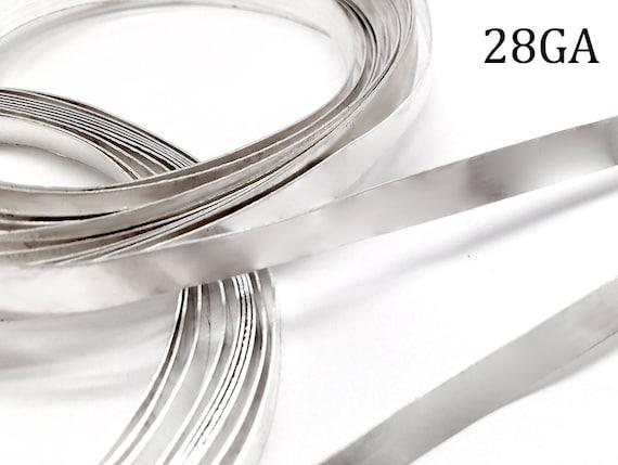 """999 fine silver bezel strip wire 4 mm x 28 Gauge 10cm 4/"""" long"""
