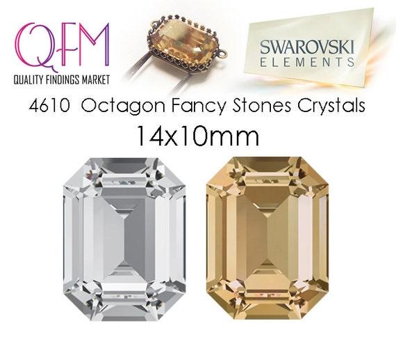 930184055189 1pc 14x10mm 4610 SWAROVSKI Undrilled Octagon Fancy Stones