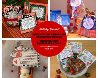 Set of our Four Favorite Winter and Christmas Labels & Tags for Homemade Gifts and Party Favors