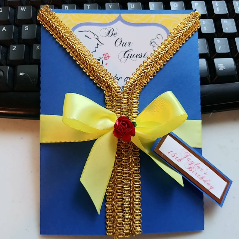 Beauty And The Beast Invitation Beauty And The Beast Quinceanera Invite Bog Invitations Beauty And The Beast Wedding