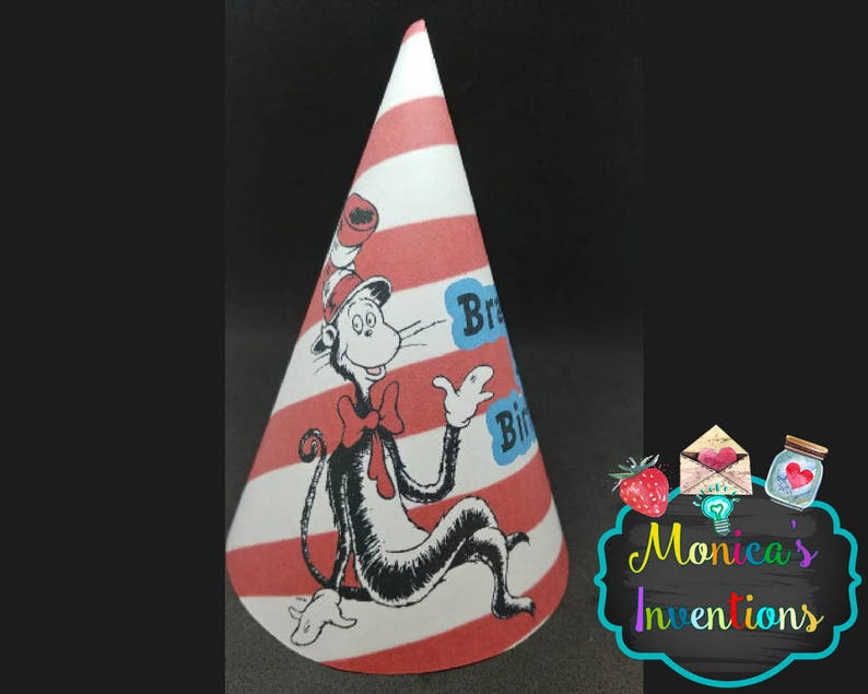 Dr Seuss Party Hats Birthday Cat In