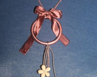 Copper chain necklace and charms