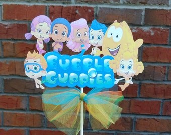 1 Nickelodeon Bubble Guppies Group Themed Cake Topper or Centerpiece Pick