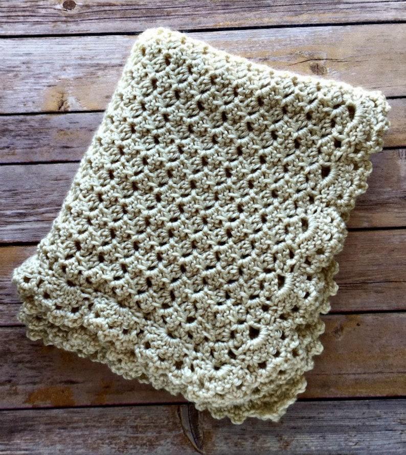 Baby Blanket Crochet PATTERN Worsted Crochet Baby Pattern image 0