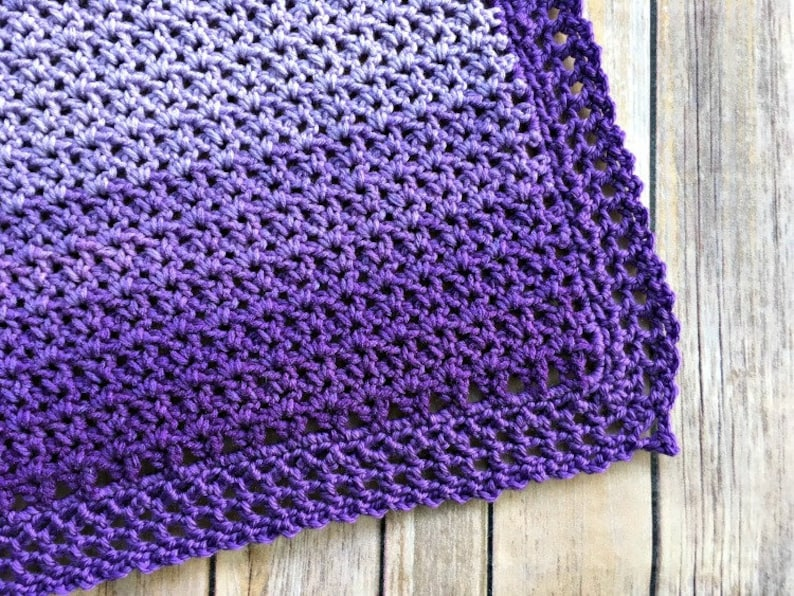 Easy Ombre Baby Blanket Pattern image 0