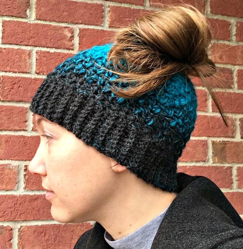Quick and Easy Messy Bun Hat Pattern image 0