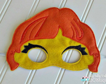 Julia, Sesame Street inspired mask