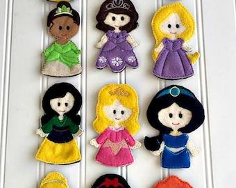 Princess finger puppet set
