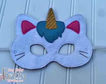 Caticorn mask. Cat Unicorn