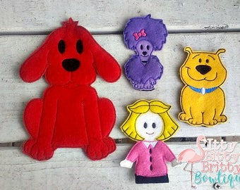Clifford inspired Finger Puppets